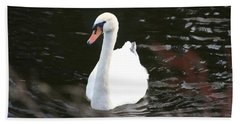 Swans-a-swimming Hand Towel