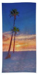 Bath Towel featuring the photograph Swaying Palms by Marvin Spates