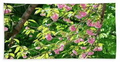 Sweeping Cherry Blossom Branches Bath Towel