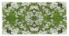 Hand Towel featuring the digital art Sweet Alyssum Abstract by Linda Phelps
