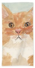 Hand Towel featuring the painting Sweet Attitude by Terry Taylor
