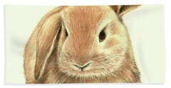 Sweet Bunny Hand Towel by Heidi Kriel