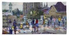 Sweet Chalk Festival In Lockport Hand Towel