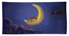 Bath Towel featuring the drawing Sweet Dreams by Julia Art