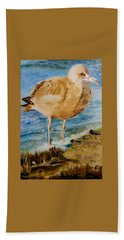 Sweet Gull Chick Bath Towel