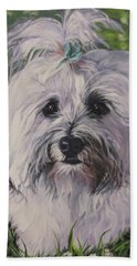 Sweet Havanese Dog Hand Towel