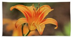 Sweet Lilly In Orange Hand Towel