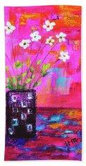 Sweet Little Flower Vase Hand Towel