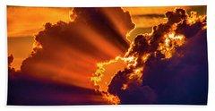 Sweet Nebraska Crepuscular Rays 010 Bath Towel