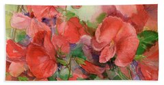 Sweet Peas Hand Towel