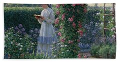 Sweet Solitude Hand Towel by Edmund Blair Leighton