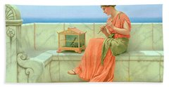 Sweet Sounds Hand Towel by John William Godward