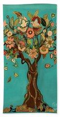 Sweet Tree Hand Towel by Carrie Joy Byrnes