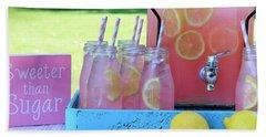 Sweeter Than Sugar Pink Lemonade Hand Towel