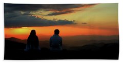 Hand Towel featuring the photograph Sweetheart Sunset by Jessica Brawley
