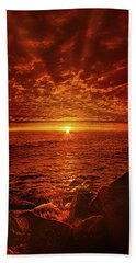 Hand Towel featuring the photograph Swiftly Flow The Days by Phil Koch