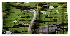 Swimming Among The Waterlilies Hand Towel