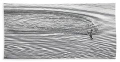 Hand Towel featuring the photograph Swimming From Circles by Joe Bonita