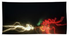 Hand Towel featuring the photograph Swimming Lights by David Pantuso