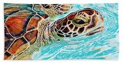 Swimming Turtle Hand Towel
