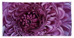 Purple Mum Abstract Hand Towel by Glenn Gordon