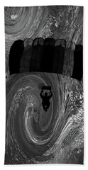 Hand Towel featuring the photograph Swirling Air Bath Bw by Lesa Fine