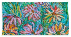 Bath Towel featuring the painting Swirling Color by Kendall Kessler