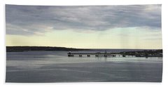 Swirling Currents On Casco Bay Hand Towel by Patricia E Sundik