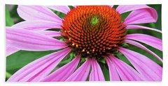 Swirling Purple Cone Flower 3576 H_2 Bath Towel