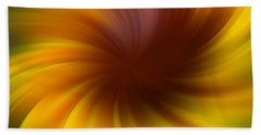 Swirling Yellow And Brown Hand Towel by Smilin Eyes  Treasures