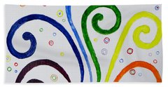 Bath Towel featuring the painting Swirls by Sonali Gangane