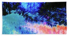 Swirly Abstract Landscape Bath Towel