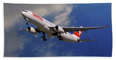 Swiss Airbus A330-343 Bath Towel