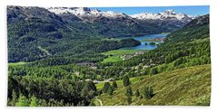 Swiss Alps And Lake Bath Towel