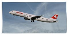 Swiss International Air Lines Airbus A321-111 Bath Towel