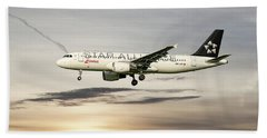 Swiss Star Alliance Livery Airbus A320-214 3 Bath Towel