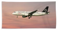 Swiss Star Alliance Livery Airbus A320-214 4 Bath Towel