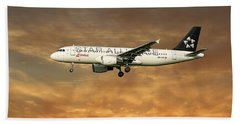 Swiss Star Alliance Livery Airbus A320-214 6 Bath Towel