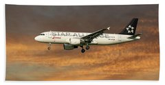 Swiss Star Alliance Livery Airbus A320-214 7 Bath Towel