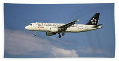 Swiss Star Alliance Livery Airbus A320-214 8 Bath Towel