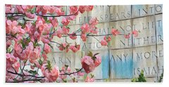 Swords Into Plowshares - Spring Flowers Bath Towel by Miriam Danar
