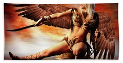Swords Of The Hawk Woman Bath Towel