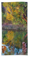 Sycamores And Willows Bath Towel by Tim Fitzharris
