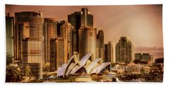 Bath Towel featuring the photograph Sydney Cityscape by Wallaroo Images
