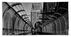 Sydney Harbor Bridge Bw Bath Towel