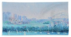 Sydney Harbour And The Opera House Hand Towel by Jan Matson
