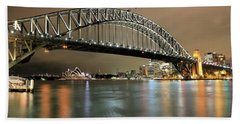 Sydney Harbour At Night Hand Towel