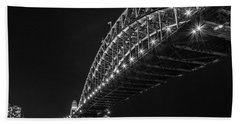 Sydney Harbour Bridge At Night Hand Towel