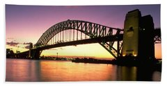 Hand Towel featuring the photograph Sydney Harbour Bridge by Travel Pics