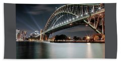 Sydney Harbour Lights Bath Towel